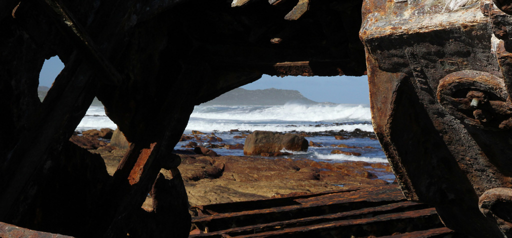 The wreck of the Thomas T Tucker is one of the most accessible at Cape Point. Photograph by Dave Knight.