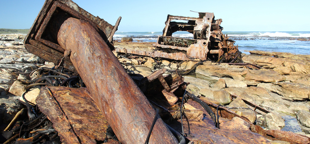 While many wrecks look somewhat like scrapyards, they offer fascinating insight into a turbulent maritime history. Photograph by Dave Knight.