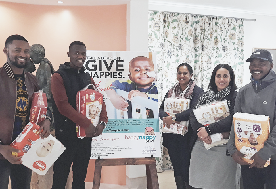 Throwback to St Josephs Home for Children Mandela Day July 2019 Happy Nappy Drive