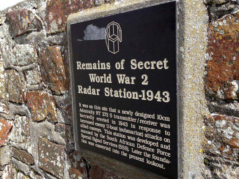 Plaque at the location of the old radar station