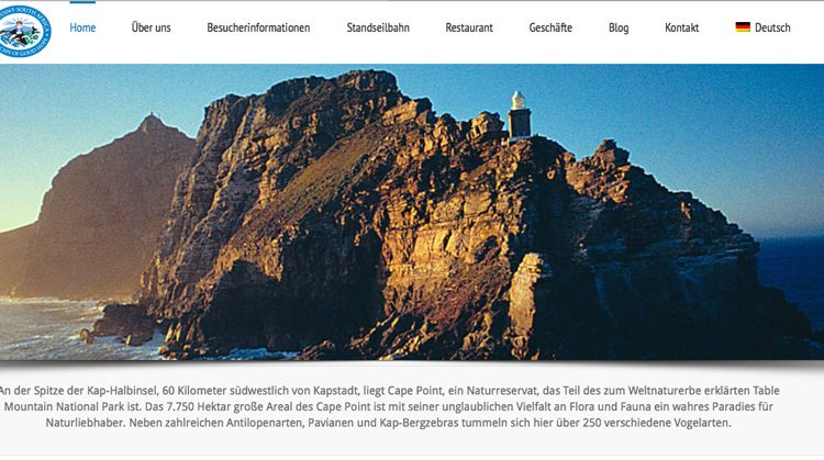 Cape Point Website Goes German!