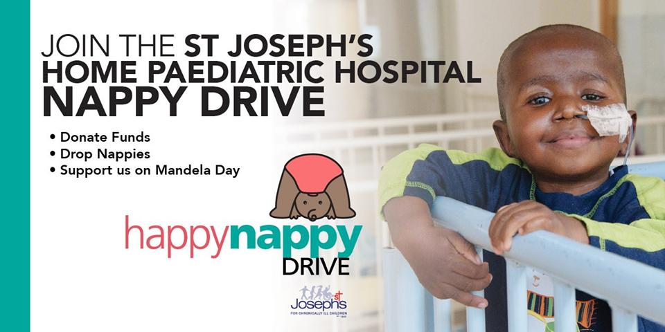 St Josephs Home for Children Mandela Day July 2019 Happy Nappy Drive