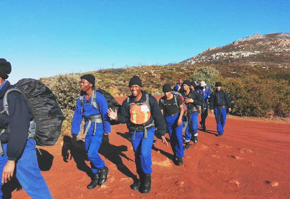 Chrysalis Academy's recent 3-day symbolic hike to Cape Point