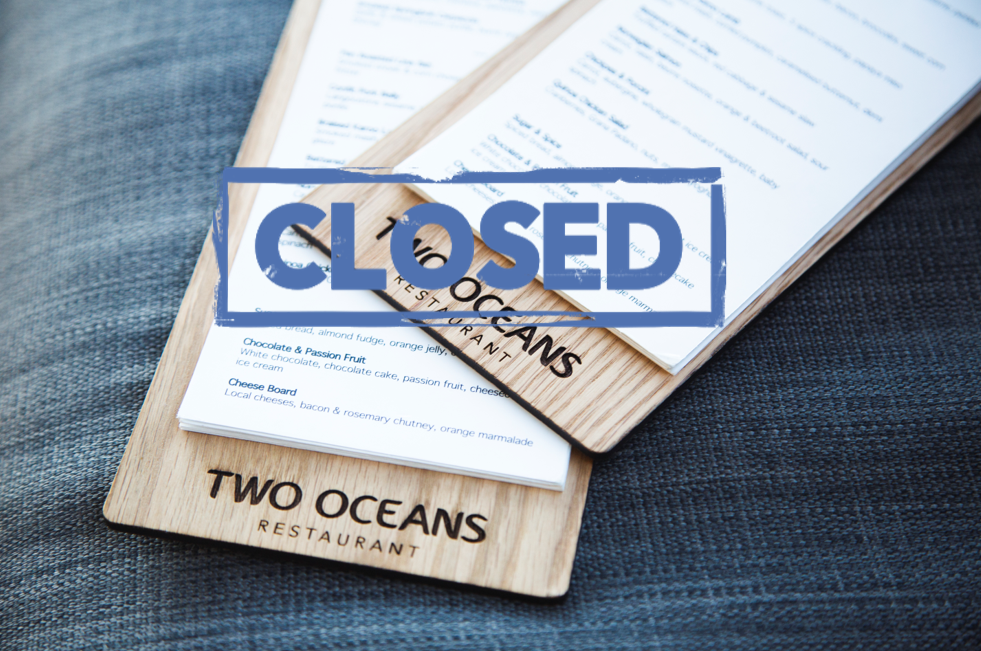 Two Oceans Restaurant closed